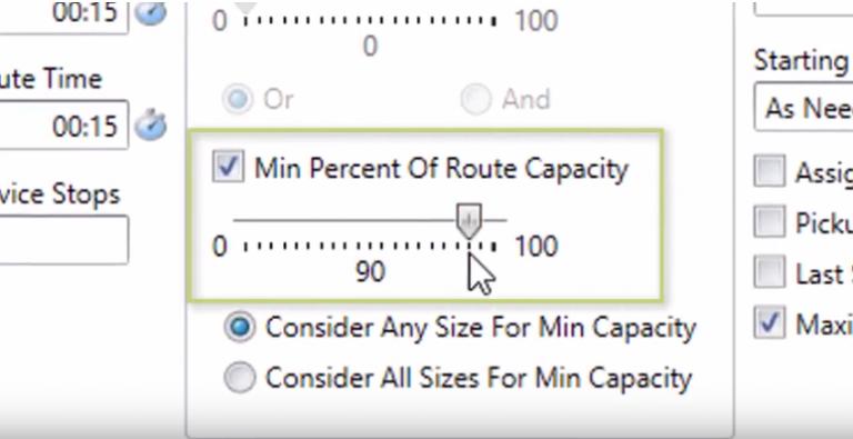 Setting Truck Capacity